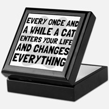 Cat Changes Everything Keepsake Box