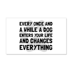 Dog Changes Everything Wall Decal