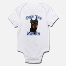 Min Pin Obey Infant Bodysuit