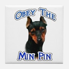 Min Pin Obey Tile Coaster