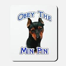 Min Pin Obey Mousepad