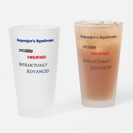 Cute Asperger syndrome Drinking Glass