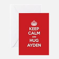 Hug Ayden Greeting Cards