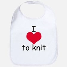 I love to knit Bib