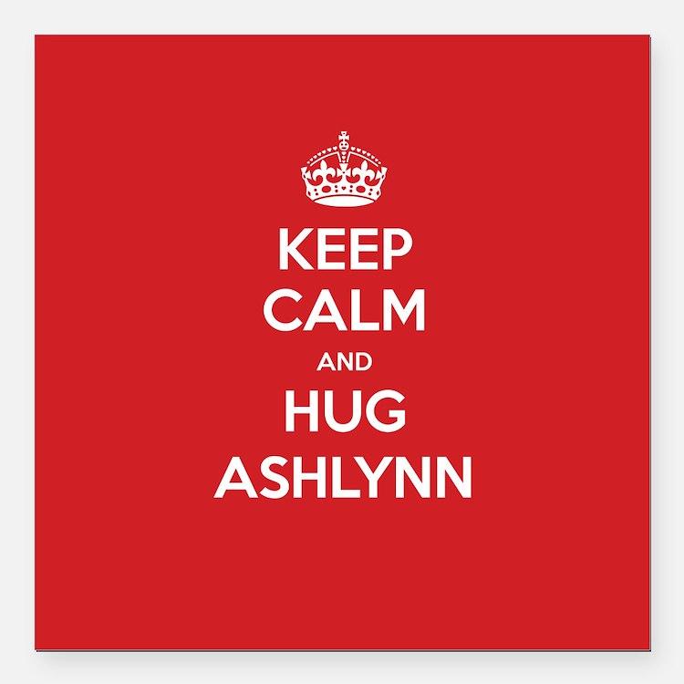 "Hug Ashlynn Square Car Magnet 3"" x 3"""