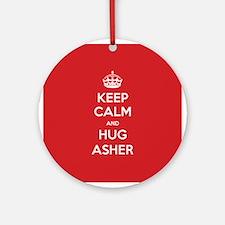 Hug Asher Ornament (Round)