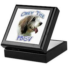 PBGV Obey Keepsake Box