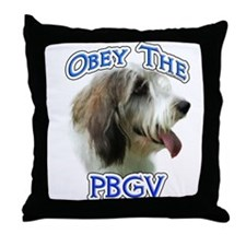 PBGV Obey Throw Pillow