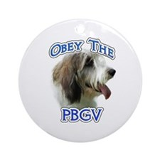 PBGV Obey Ornament (Round)
