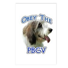 PBGV Obey Postcards (Package of 8)