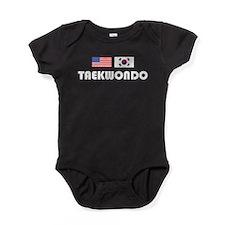 Taekwondo USA/Korea Baby Bodysuit