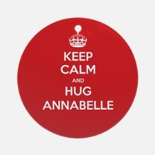 Hug Annabelle Ornament (Round)