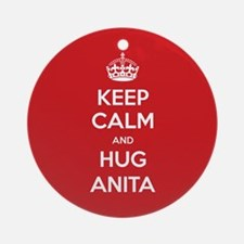 Hug Anita Ornament (Round)