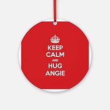 Hug Angie Ornament (Round)