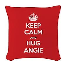 Hug Angie Woven Throw Pillow