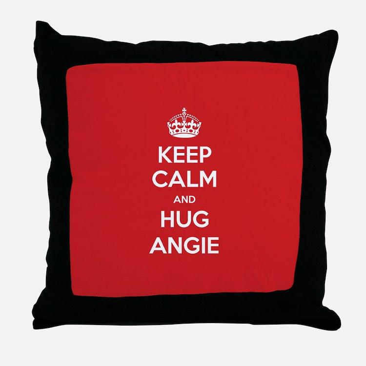Hug Angie Throw Pillow