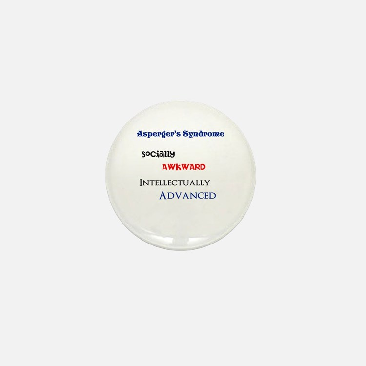 Cute Aspergers awareness Mini Button
