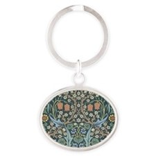William Morris Blackthorn Oval Keychain