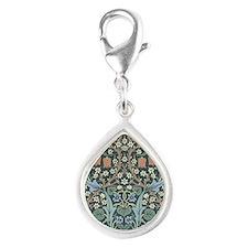 William Morris Blackthorn Silver Teardrop Charm