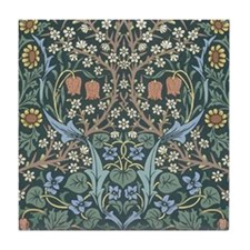William Morris Blackthorn Tile Coaster
