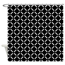 White Diamond Patterned Shower Curtain
