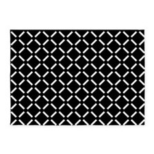 White Diamond Patterned 5'x7'Area Rug