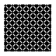 White Diamond Patterned Tile Coaster