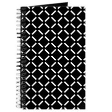 White Diamond Patterned Journal