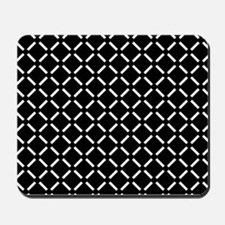 White Diamond Patterned Mousepad