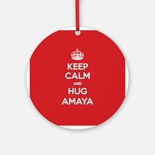 Hug Amaya Ornament (Round)
