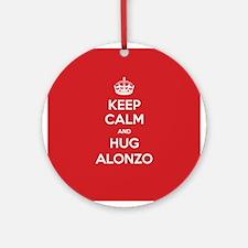 Hug Alonzo Ornament (Round)