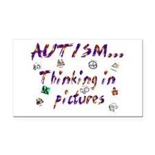Thinking In Pictures.png Rectangle Car Magnet