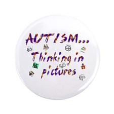 """Thinking In Pictures.png 3.5"""" Button (100 Pac"""