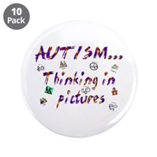 "Thinking In Pictures.png 3.5"" Button (10 Pack"