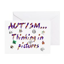 Thinking In Pictures.png Greeting Cards