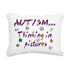 Thinking in pictures.png Rectangular Canvas Pillow