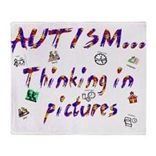 Thinking In Pictures.png Throw Blanket