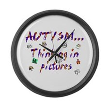 Thinking In Pictures.png Large Wall Clock