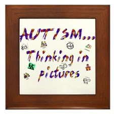 Thinking In Pictures.png Framed Tile