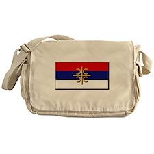 Flag of Serbian Cross Messenger Bag