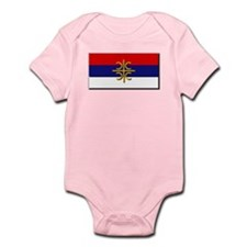 Flag of Serbian Cross Onesie