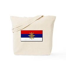 Flag of Serbian Cross Tote Bag