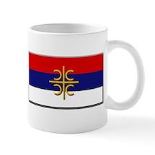 Flag of Serbian Cross Small Mug