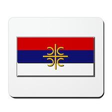 Flag of Serbian Cross Mousepad