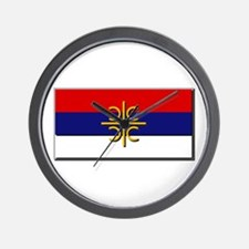 Flag of Serbian Cross Wall Clock