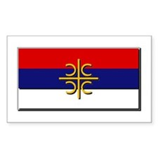 Flag of Serbian Cross Decal