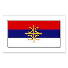 Flag of Serbian Cross Decal