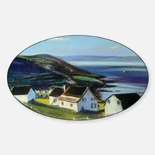 Houses on the river Sticker (Oval)