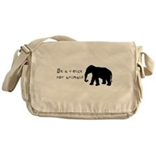 Be A Voice for Animals Messenger Bag