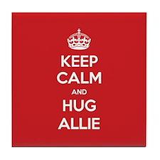 Hug Allie Tile Coaster